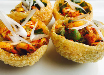 How About Some Roasted Corn Chaat in a Paani Puri?