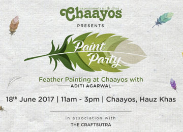Feather Painting Workshop at Chaayos – June 18