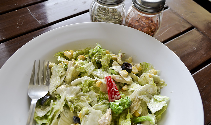 Healthiest option here - Cafetorium Ceaser Salad